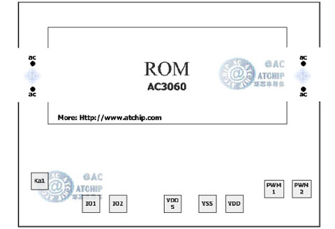 应用电路简单的otp语音芯片原理资料 / ac3060-otp60