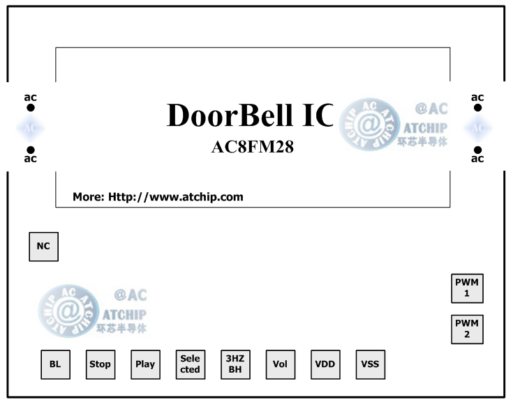 单片机控制的和弦音乐门铃芯片方案 / 单片机门铃ic