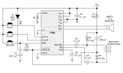 isd1806x应用电路图 环-芯