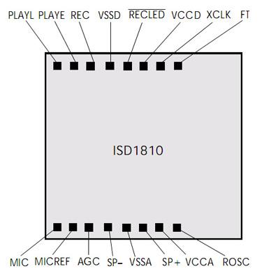 ISD1810绑定脚位图